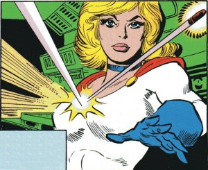 Power Girl In Action