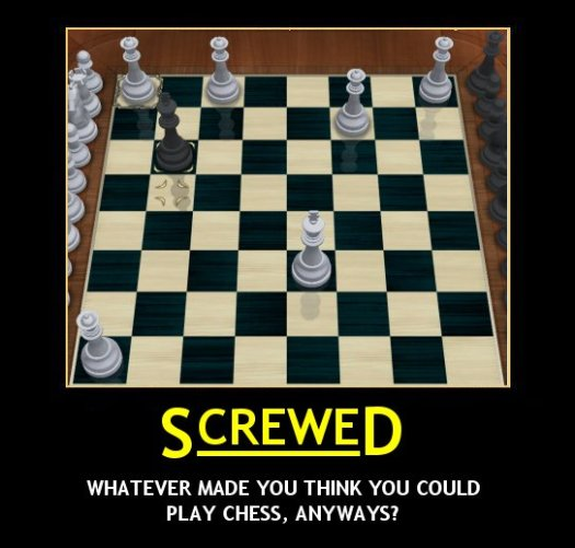 Chess Demotivator