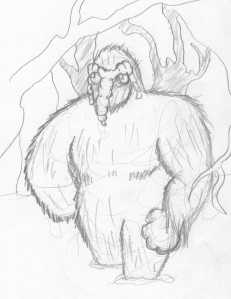 Man-Thing Pencil Sketch 9-11-2010