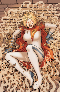 There is absolutely no reason for this Power Girl Cover.  She isn't even mentioned in the post.  I just wanted to have her here.  Staring in fury at me.  Because I missed her.  And there's something wrong with me.  Long caption, ain't it?